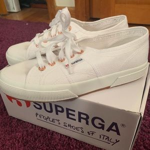 Superga Shoes - Superga White Classic Sneakers